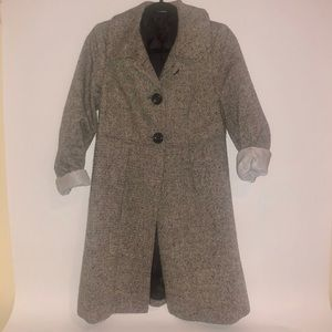 6754e69da21 ... Sz small Charcoal women Zara tweed 3 oversize button coat ...